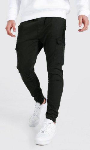 Штани завужені кольору хакі