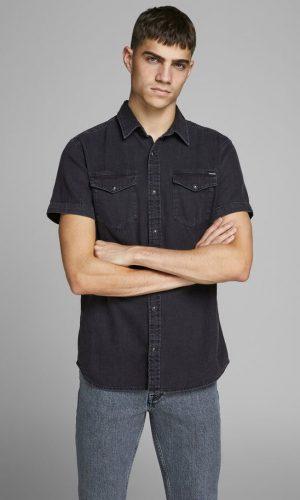 Джинсова сорочка з коротким рукавом Jack & Jones